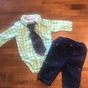 Carters NB outfit with tie